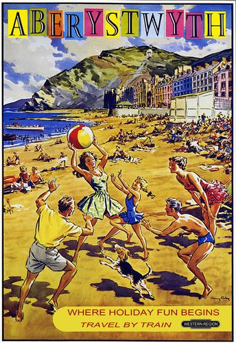 Shop Art Saint Nazaire Aberystwyth Beach Seaside Fun Western Region Train Rail