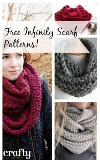 Free Patterns to knit and crochet - Infinity Scarf ...