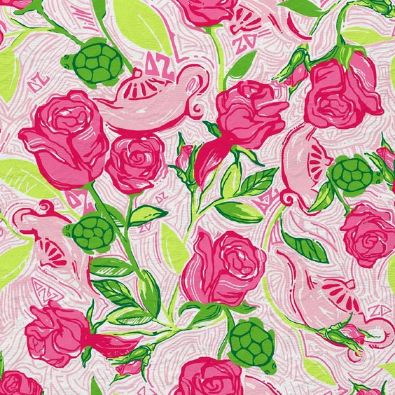 Betsey Johnson Wallpapers Quotes Lilly Pulitzer Wallpaper Lillys Pink Delta Zeta Patterns