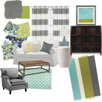 Grey Teal And Green Living Room - teal living room design ...