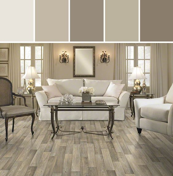 Mushroomy neutrals: Resilient Carriage House Flooring