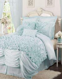 Ruffled comforter, Tiffany blue and Comforter on Pinterest