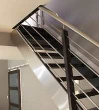 Modern, Railings and Wrought iron stair railing on Pinterest