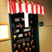 Ice cream theme classroom door   school   Pinterest   Ice ...