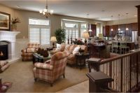 Long living rooms, Corner fireplaces and Living rooms on ...
