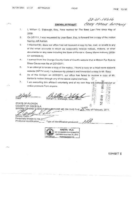 I 751 Affidavit Letter Notarized – Example of a Sworn Affidavit