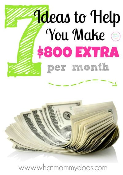 7 Ways to Make $800 Extra per Month | On the side, Fundraisers and Recipe