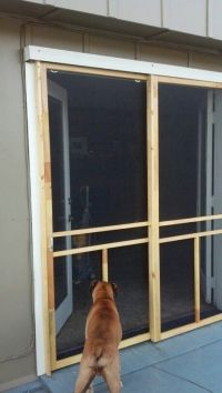 Sliding screen door for French doors | Do it yourself ...