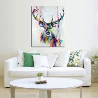 Handpainted Oil painting On Canvas Wall Pictures Deer Wall ...