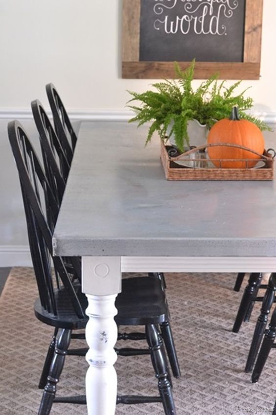 Diy Zinc Top Kitchen Table Black Chairs Countertops And