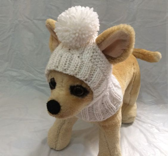 Pet Clothes Apparel Winter Outfit Crochet Dog Hat for