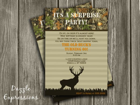 free printable surprise party invitations