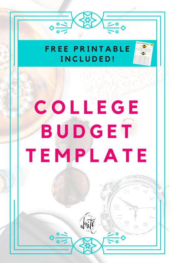 budget sheet for college student
