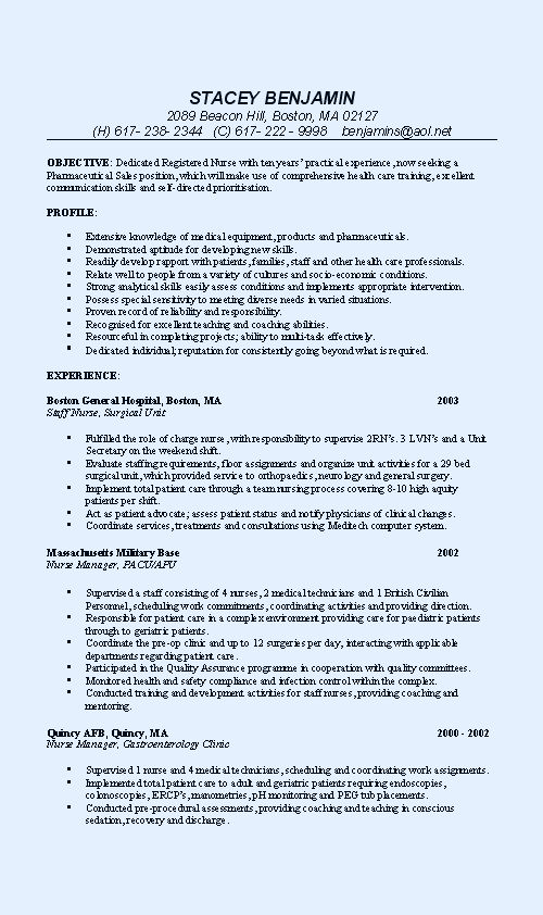 example of resume for diploma graduate for rn