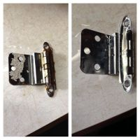 Cleaning old cabinet hardware the easy way! Place hinges ...