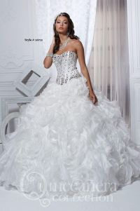 Pics For > White And Silver Quinceanera Dresses
