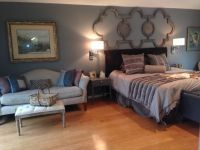 Master bedroom, wall sconces next to bed, | My work ...
