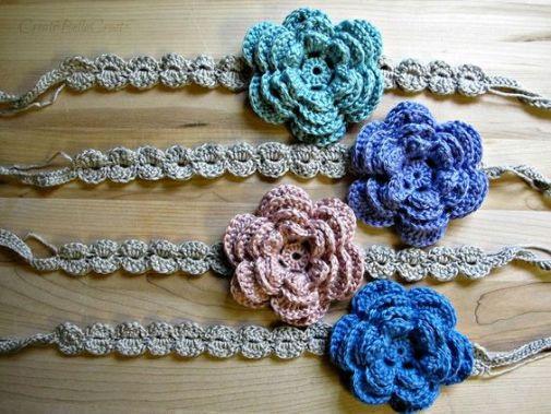 tuto headband fleur crochet