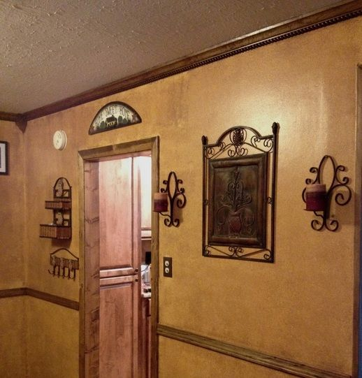 I Hated The Mustard Color On My Walls. Using Behr Faux Glaze And A