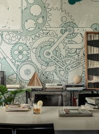 Wall & Deco STEAMPUNK mural | Interiors | Pinterest ...