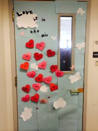 Valentine's Day Office Door Decoration. Each heart has an ...