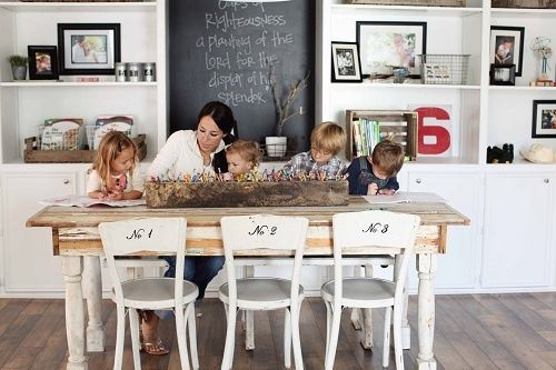 love the chairs, fun homework center for the kids!: