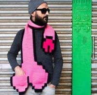 Hipster level: pixelized dick scarf | Mens fashion ...