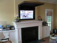 Hidden TV above Fireplace Ideas | Flat Screen TV Over ...