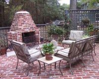 Vintage red brick small and simple design for patio brick ...