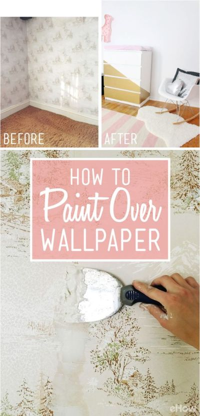 How to Easily Apply Paint Over Hard to Remove Wallpaper | Remove wallpaper, Offices and To remove