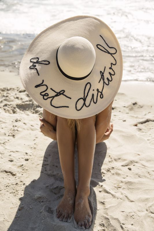 Friday Vibes // Do Not Disturb Hat on the beach: