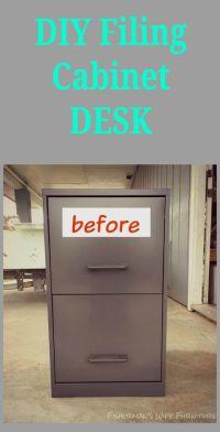 Filing cabinet desk, Filing cabinets and Desks on Pinterest