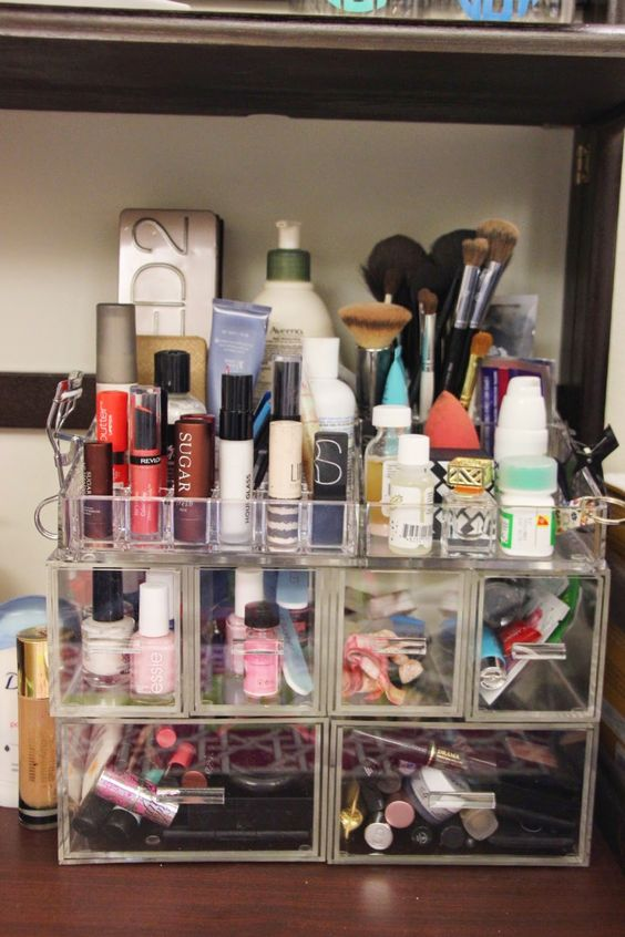 College Dorm Organizers Makeup Storage, Beauty And Paper On Pinterest