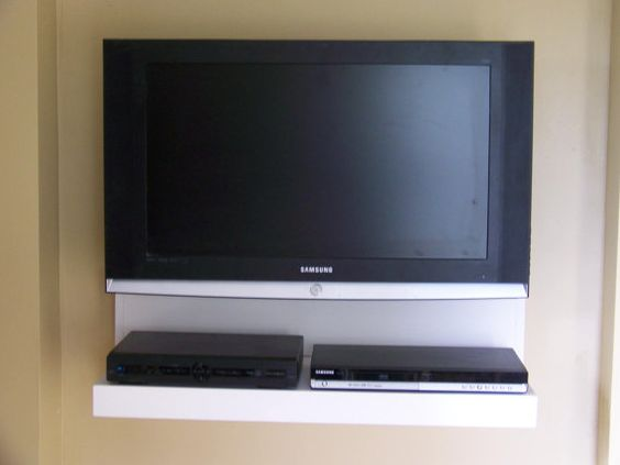 Floating AV component shelf LCD/Flat TV stand in by
