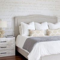 Love these bedding colors: White, grey, beige. Love the ...