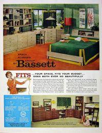 Bassett Space Planner group (1959) | MCM Bassett Furniture ...