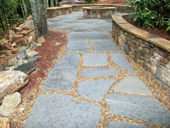 Gray Flagstone Pavers Set In Sand Bed | Allot Patio | Pinterest