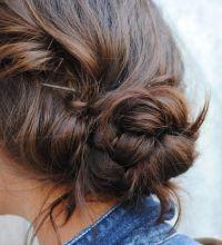 Messy braided bun. Hair. | hair | Pinterest | Braid buns ...