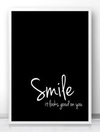 "Digital Download Art Motivational Print ""Smile"" Typography ..."