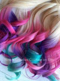 Tie dye hair, Extensions hair and Tie dye on Pinterest