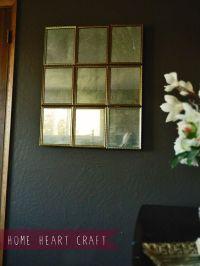DIY Multi Pane Antique Mirror. No muriatic acid needed ...
