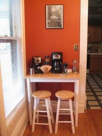 coffee station/extra table @Kristin Daniels a table/stools ...
