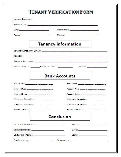 Doc#750971 Tenant Verification Letter u2013 Verification of Tenant - landlord verification form