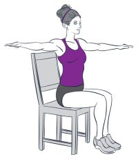 9 Exercises You Can Do While Sitting Down | Chairs ...