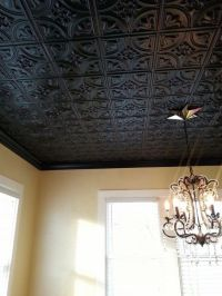 black decorative tin ceiling tiles chandelier home ...