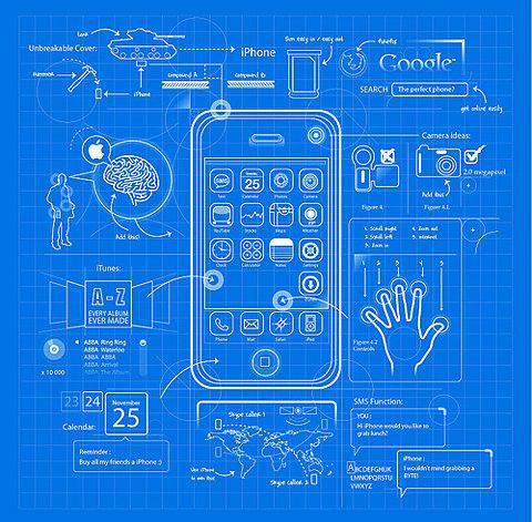 Iphone 6s Plus Blueprint Wallpaper Iphone Blueprint Design Graphics Illustration Clever