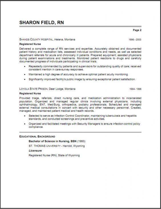 Occupational Health Nurse Sample Resume Occupational Health Nurse