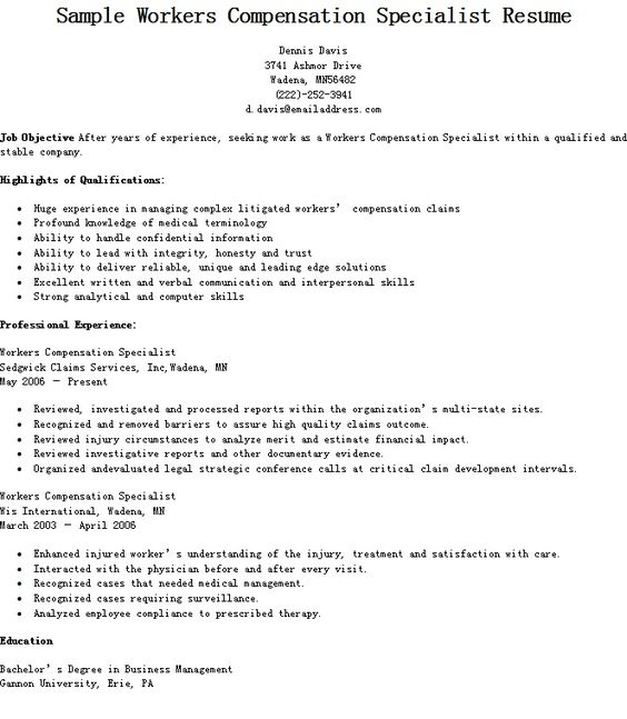 Vocational Rehabilitation Specialist Sample Resume Vocational