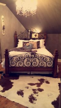 Classy southern bedroom with a cowhide rug! | My room ...