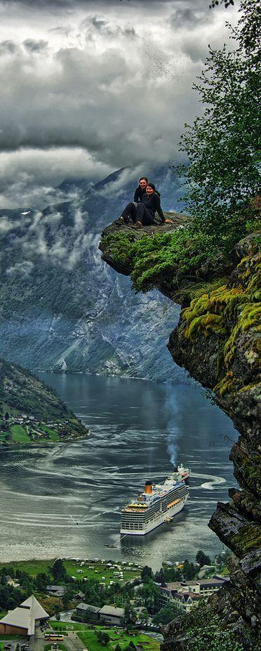 Geiranger, #Norway : #Travel #beach #wanderlust #tour #trip #vacation #holiday #adventure #place #destinations: